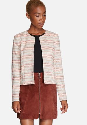 ONLY Bluebell Bess Blazer Jackets White, Orange & Pink