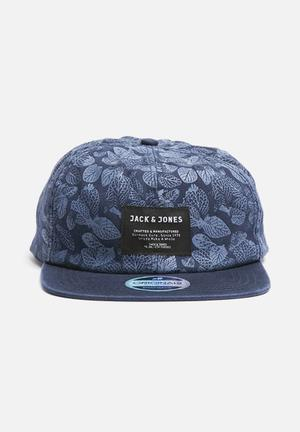 Jack & Jones Footwear & Accessories Flower Snapback Headwear Navy Blazer