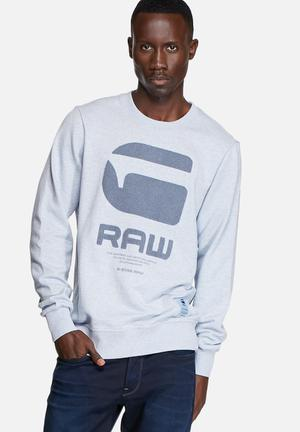 G-Star RAW Resap Sweater Hoodies & Sweatshirts Sea Heather