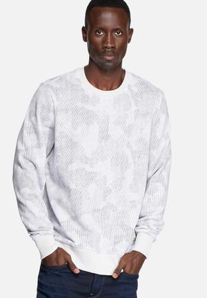 G-Star RAW Ferrous Camo Sweater Hoodies & Sweatshirts White AOP