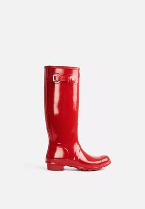 Hunter Original Tall Gloss Boots Red