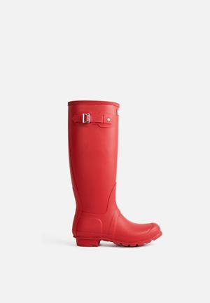Hunter Original Tall Boots Red