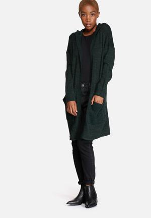 ONLY New Hayley Hood Cardigan Knitwear Dark Green