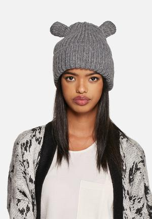 Pieces Vakki Beanie Headwear Grey Melange