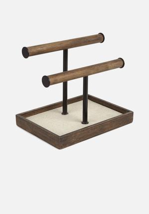 Umbra Pillar Accessory Organiser Wood / Metal