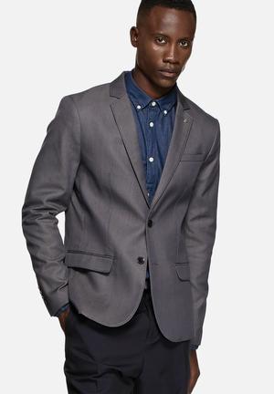 Selected Homme Zero Road Blazer Jackets & Coats Grey Melange