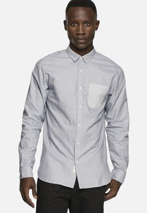 Selected Homme Aiden Slim Shirt Medieval Blue