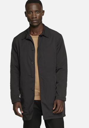 Selected Homme Felix Nylon Coat Black