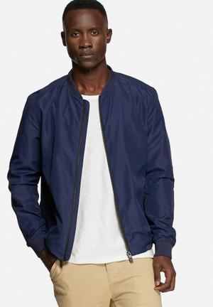 Selected Homme Luke Bomber Jacket Medieval Blue