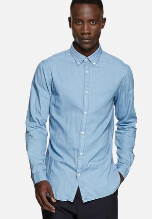Selected Homme Nolan Slim Shirt Light Blue