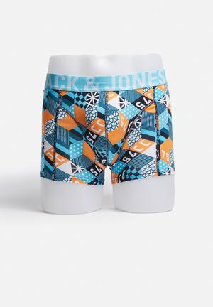 Jack & Jones Footwear & Accessories Block Trunks Underwear Blue / White / Black / Orange