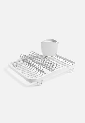Umbra Sinkin Dish Rack Kitchen Accessories Molded Plastic / Metal