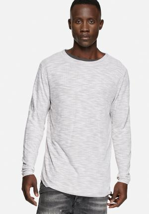 Selected Homme Florence L/S Crew Knitwear White