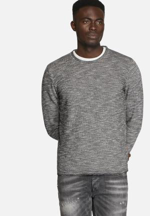 Jack & Jones Vintage Gun Crew Sweat Knitwear Black Caviar