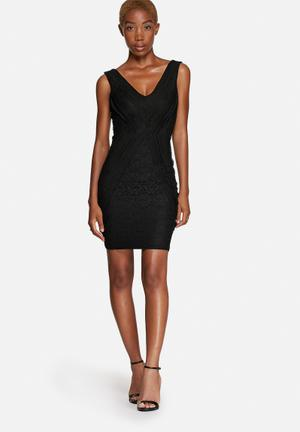 GUESS Sexy Lace Mix Dress Occasion Black