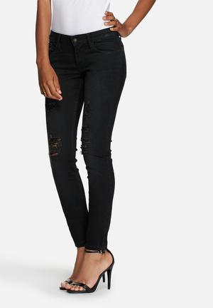 GUESS Power Mid Skinny Jeans Black