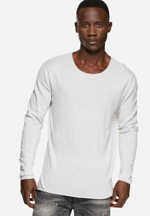 Selected Homme Dome Crew Neck Knitwear Snow White Melange