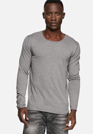 Selected Homme Dome Crew Neck Knitwear Medium Grey Melange