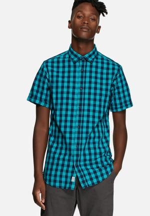 Jack & Jones Originals Chess Slim Shirt Viridian Green
