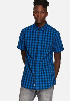 Jack & Jones Originals Chess Slim Shirt Imperial Blue