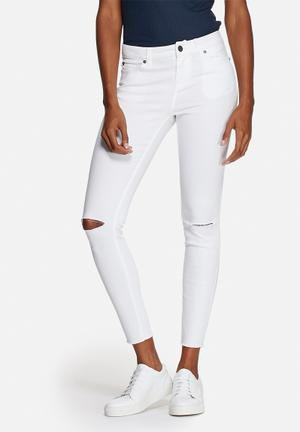 Noisy May Lucy Super Slim Jeans Bright White