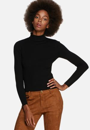 Glamorous Funnel Neck Sweater Knitwear Black