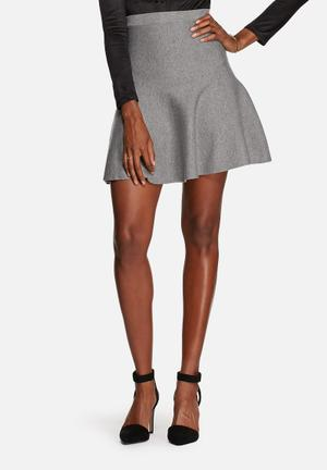 Glamorous Fit & Flare Skirt Grey