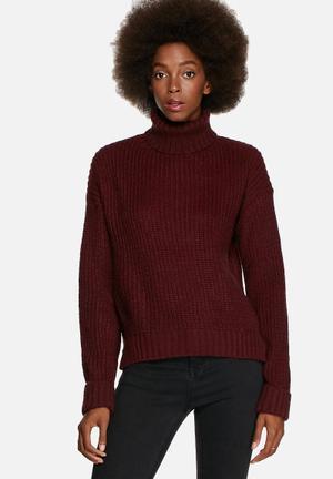 Glamorous Roll Neck Sweater Knitwear Cream