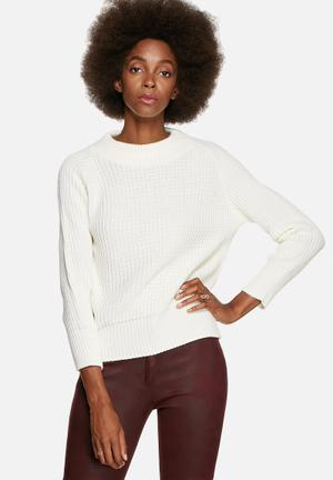 Glamorous Knitted Top Knitwear Cream