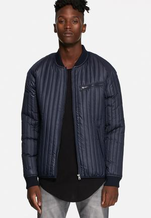 Only & Sons Liam Quilt Bomber Jackets Night Sky
