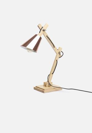 Illumina Urban Desk Lamp Lighting Metal & Wood