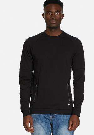 Only & Sons Urban Crew Hoodies & Sweatshirts Black