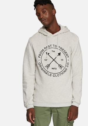 Jack & Jones Originals Willie Hooded Sweat Hoodies & Sweatshirts White Melange