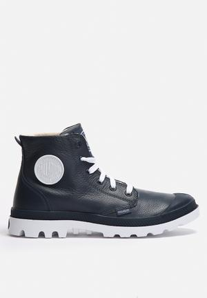 Palladium Blanc Hi Leather Boots Indigo
