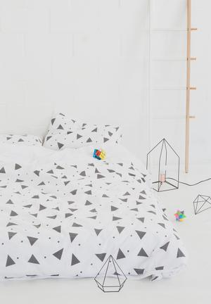 Zana X Superbalist Triangles Duvet Cover Bedding 250TC Cotton Percale