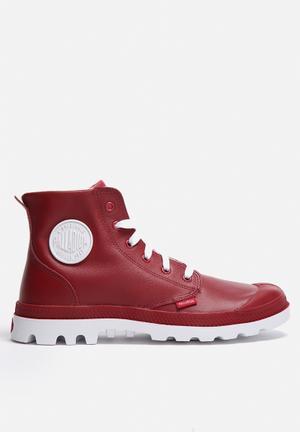 Palladium Blanc Hi Leather Boots Red