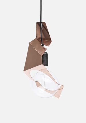 Emerging Creatives Origami Pendant Light Small Lighting Solid Copper
