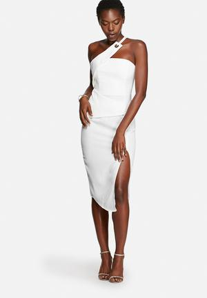 Glamorous Asymmetrical Dress Occasion White