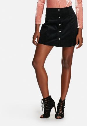 Glamorous Corduroy Skirt Black