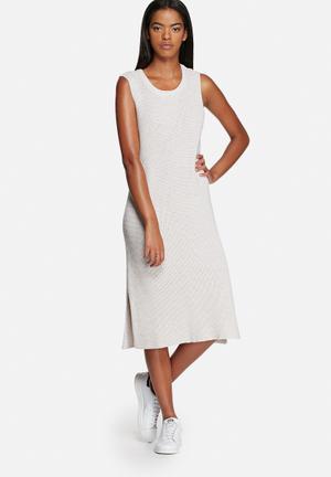 Noisy May Keanu Knit Dress Casual Navy & White
