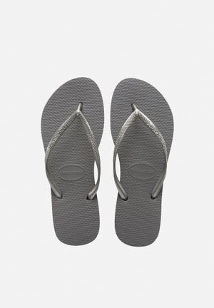 Havaianas Women's Slim Sandals & Flip Flops Silver