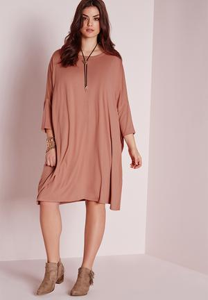 Missguided Plus Size Dress Casual Yeezy Pink