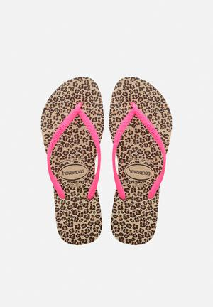 Havaianas Women's Slim Animals Sandals & Flip Flops Sand & Pink