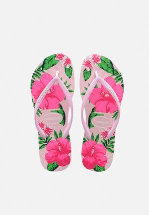 Havaianas Women's Slim Floral Sandals & Flip Flops Pink & Green