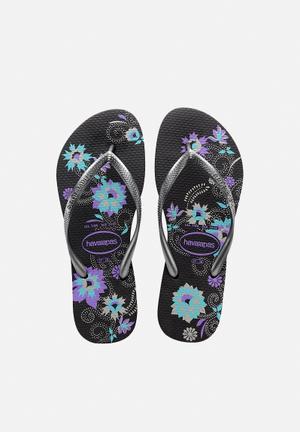 Havaianas Women's Slim Organic Sandals & Flip Flops Black, Blue & Purple
