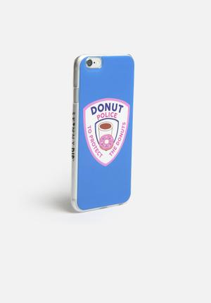 Skinnydip Donut Police IPhone Cover Blue