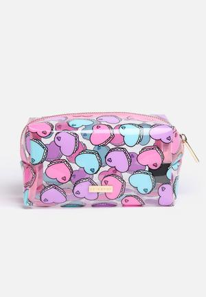 Skinnydip Heart Macaroon Make Up Bag Pink