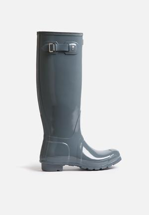 Hunter Original Tall Gloss Boots Graphite