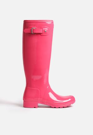 Hunter Original Tour Gloss Boots Bright Cerise