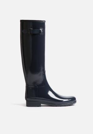 Hunter Original Refined Gloss Boots Navy